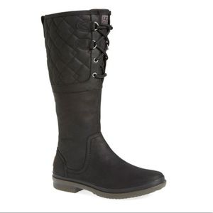 UGG Elsa Quilted Black Waterproof Boots